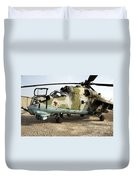 An Mi-24 Russian Helicopter Duvet Cover