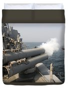 An Mk-46 Recoverable Exercise Torpedo Duvet Cover