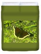 An October Butterfly  Duvet Cover
