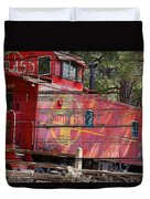 An Old Caboose  Duvet Cover