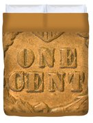 An Old United States Indian Head Penny Duvet Cover