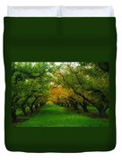 An Orchard Row  Duvet Cover