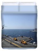 An Sa330j Puma Helicopter Conducts Duvet Cover