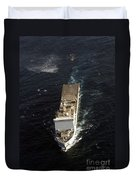 An Sh-60 Sea Hawk Approaches The Royal Duvet Cover