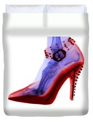An X-ray Of A Foot In A High Heel Shoe Duvet Cover