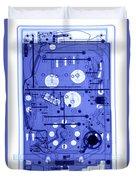 An X-ray Of A Pinball Machine Duvet Cover
