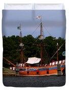 Anchored Ship Duvet Cover