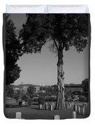 Ancient Cedars And Tombstones Duvet Cover
