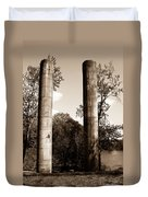 Ancient Columns By The River Duvet Cover