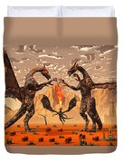 Ancient Lava Dragons Born Of Fire Duvet Cover