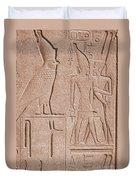Ancient Stone Carvings, Karnak, Egypt Duvet Cover