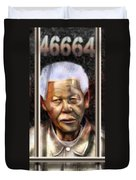 And God Remembered Prisoner 46664 Duvet Cover by Reggie Duffie