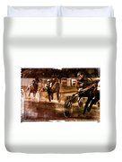and the winner is - A vintage processed Menorca trotting race Duvet Cover