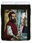 Andreas Vesalius, Flemish Anatomist Duvet Cover