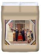 Andrew Jackson At The First Capitol Inauguration - C 1829 Duvet Cover