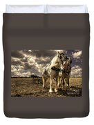 Angel And Lad  Duvet Cover