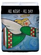 Angel Flight Poster Duvet Cover