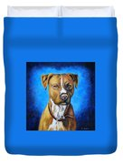 American Staffordshire Terrier Dog Painting Duvet Cover