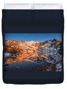Angel Lake Alpenglow Duvet Cover