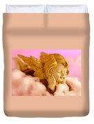 Angel Resting On Clouds And Enjoying The Sun Duvet Cover