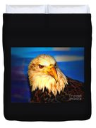 Angel The Bald Eagle Duvet Cover