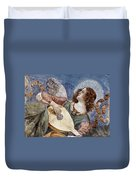 Angel With A Lute Duvet Cover