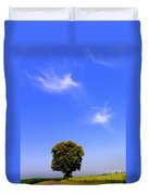 Angels Watching Over Tree Duvet Cover