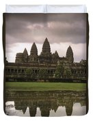 Angkor Wat Temple Reflected Duvet Cover
