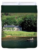 Angling, Delphi Lodge, Co Mayo, Ireland Duvet Cover