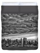 Angry Skies Over Nyc Duvet Cover