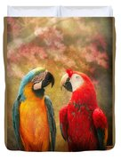 Animal - Parrot - We'll Always Have Parrots Duvet Cover