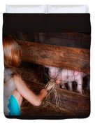 Animal - Pig - Feeding Piglets  Duvet Cover