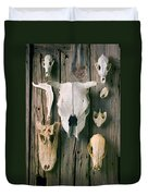 Animal Skulls Duvet Cover