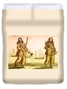 Anne Bonny And Mary Read, 18th Century Duvet Cover