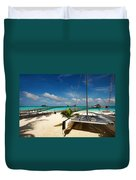 Another Day. Maldives Duvet Cover