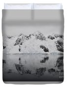 Antarctic Mountains Reflected Duvet Cover