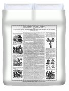 Anti-slavery Broadside Duvet Cover