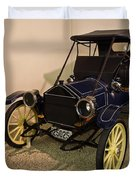 Antique Automobile With Yellow Spoke Wheels Duvet Cover