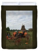 Antique Buggy In Fall Colors Duvet Cover