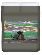 Antique Farm Equipment Duvet Cover