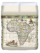 Antique Map Of Africa Duvet Cover by Dutch School