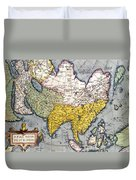 Antique Map Of Asia Duvet Cover