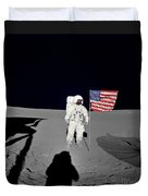 Apollo 14 Astronaut Stands Duvet Cover