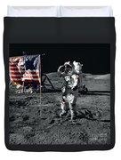 Apollo 17 Astronaut Salutes The United Duvet Cover
