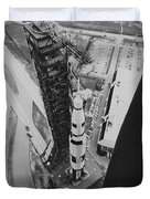 Apollo 500-f Saturn V Rocket Duvet Cover