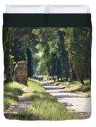 Appian Way In Rome Duvet Cover