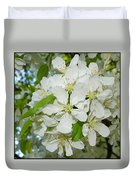 Apple Blossoms On The Trail Duvet Cover