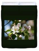 Apple Tree Flowers Duvet Cover