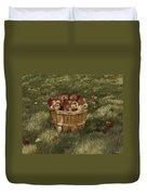 Apples In Basket Duvet Cover
