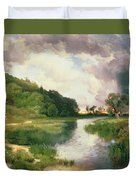 Approaching Storm Duvet Cover by Thomas Moran
